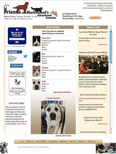 Marblehead Animal Shelter (FOMAA)
